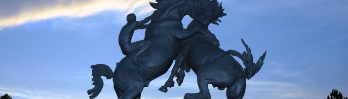 Brookgreen Gardens Fighting Stallions