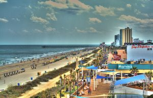 Myrtle Beach Pier and Beach nearby the oceanfront vacation rentals, inc. office